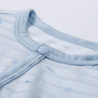 YEEHOO 英氏 婴儿四季纯棉连体衣 174026 蓝色 66cm