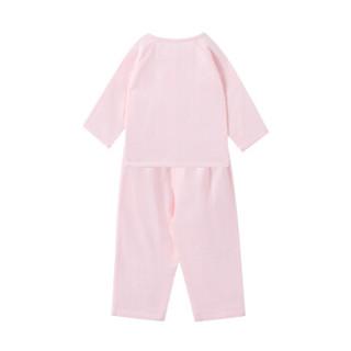 PurCotton 全棉时代 幼儿女款长袖套装 (粉色、90/52)