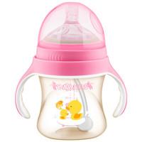 BABISIL 贝儿欣 亲馨系列 宝宝吸管奶瓶 (ppsu、240ml、粉红)