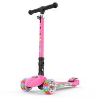 炫梦奇 6631 可折叠有音乐带闪光可调档儿童滑板车 粉色