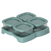 BabyCare 2190 玻璃辅食盒 (4个装、60ml、雀湖绿)