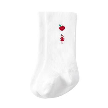 PurCotton 全棉时代 幼儿女款长筒袜 (浅粉)