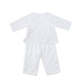 PurCotton 全棉时代 婴儿纱布无捻纱系带套装 (白底粉点)