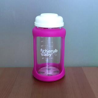 趣乐贝比 Cherub Baby 婴儿温感奶瓶 (粉色、240ml、宽口径、玻璃)