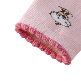 PurCotton 全棉时代 女款花边棉呦呦袜 2双/袋 (白色+糖果粉)