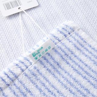 PurCotton 全棉时代 纱布毛圈素色面巾 蓝色条纹 (34*76cm)