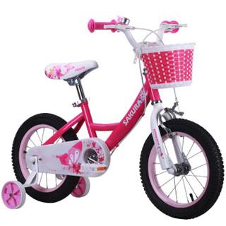 优贝 RoyalEco儿童自行车宝宝脚踏车2-4-6-7-8-9-10岁童车男孩女孩单车优享车12寸玫红色