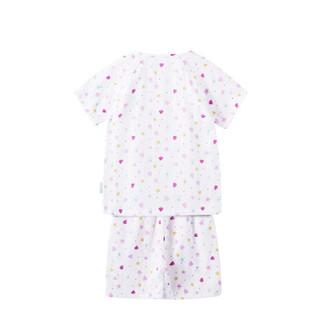 PurCotton 全棉时代 女童纱布插肩短袖套装 (女童、贝壳海星、120/56)