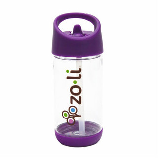 ZOLI 中立 儿童吸管水杯 (350ml、紫色)
