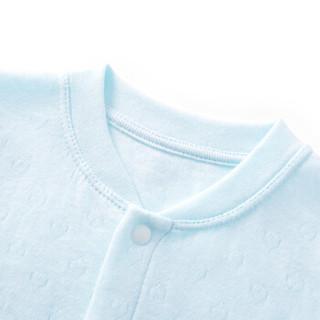 PurCotton 全棉时代 婴儿针织双层提花连体衣 (浅蓝、66/44)