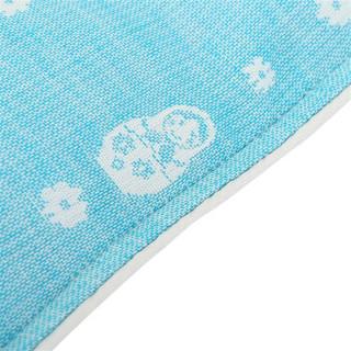 喜亲宝 纱布婴儿枕头 赠枕套 蓝色 (41*23cm)
