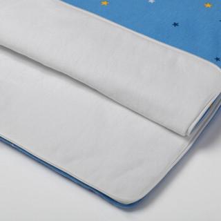 PurCotton 全棉时代 婴儿针织夹涤棉多功能抱被 (85*45cm、星际闪亮蓝)