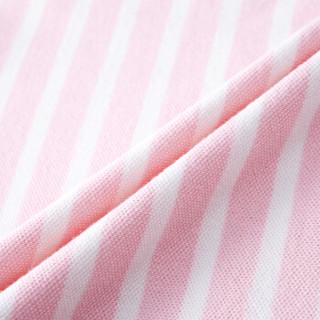PurCotton 全棉时代 女童T恤 ( 130/60、粉白条)