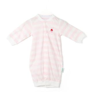 PurCotton 全棉时代 婴幼儿针织妙妙衣 (73/48、 胡萝卜兔子+粉白条纹、2件/盒)
