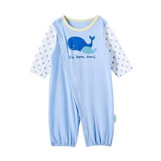 PurCotton 全棉时代 婴儿针织斜门襟妙妙衣 (蓝色、 80/48)