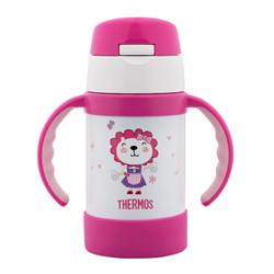膳魔师 (THERMOS) 儿童保温杯宝宝吸管杯学饮杯水杯带手柄防漏水杯 FEC-283S PK