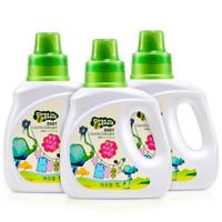 子初婴儿皂液天然草本植萃洗衣液1L*3瓶 *5件