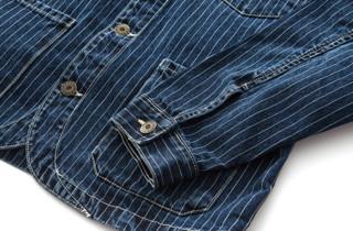 DUSTY DU181JK013 男士全棉复古条纹工装夹克