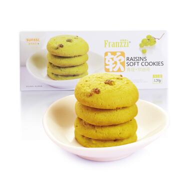 Franzzi 法丽兹  曲奇饼干 (120g、1、青提味)