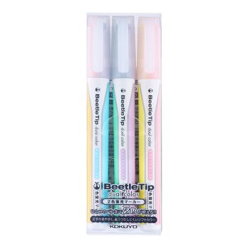 KOKUYO 国誉 PM-L313-3S 荧光笔 (三色混装)