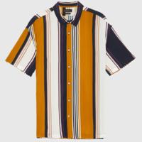 ZARA 01928300305 男士复古竖条纹短袖衬衫