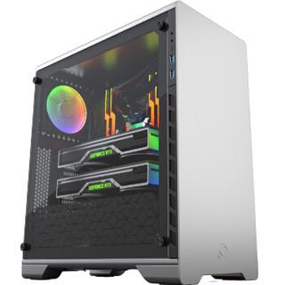 追风者(PHANTEKS) MG(MetallicGear) 510银色 钢化玻璃双侧透 中塔ATX水冷电脑铝机箱(RGB灯控支持280水冷)