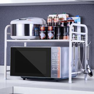 心家宜(SINGAYE) 置物架 厨房微波炉架 烤箱架调料架调味瓶罐储物架 厨具收纳架 双层架子 168407W *3件