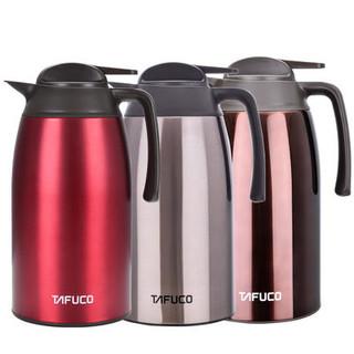 TAFUCO 泰福高 不锈钢真空保温壶 热水瓶咖啡壶暖壶2.1L/2L