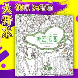 《神密花园Secret Garden》涂色书解压书,中国版秘密花园 男女朋友生日礼物