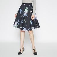折 MECITY女装裙装优雅时尚印花OL棉质及膝半身裙