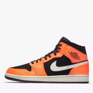新品发售 : AIR JORDAN 1 MID 黑橙款 男子运动鞋