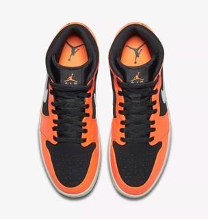AIR JORDAN 1 MID 黑橙款 男子运动鞋