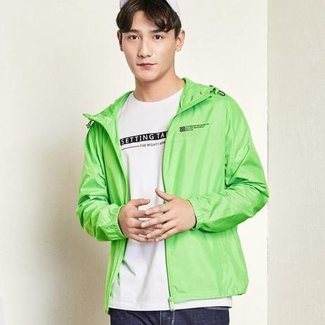 森马 夹克男 春季款男士薄款连帽抽绳户外运动韩版外套专柜款 13027091221 柠绿 S