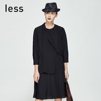 less 25651014  女士长袖连衣裙 (M、白色)