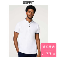 ESPRIT 068EO2K001 男士T恤衫 (白色、180)