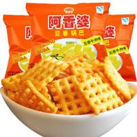 阿香婆 豆香锅巴 五香牛肉味 88g/袋 *52件