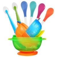 Munchkin 满趣健 宝宝吸盘碗感温勺套装 9件套