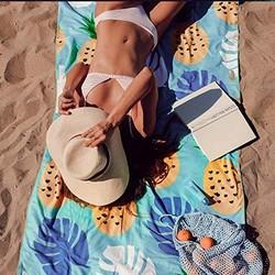 Warmest 致暖 沙滩巾浴巾披巾 绿色菠萝
