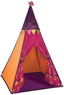 B.Toys 比乐 印第安帐篷 室内玩具屋 游戏屋 发光 炫彩灯光-树莓红 3岁+ BX1544Z