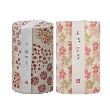 Kameyama 龟山 和遊系列线香 樱花香味 90g+白梅香味 90g