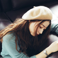 真享 172421B0191 女士秋冬韩版贝雷帽 (无啾米白、成人)