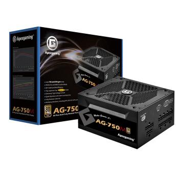 Apexgaming 美国艾湃电竞 AG-750M 电脑电源 金牌(90%)750W 全模组化