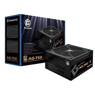 艾湃电竞(Apexgaming)AG-750S 额定750W 半模组金牌 台式机电源