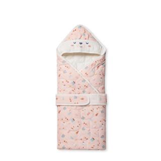 全棉时代(PurCotton)婴儿纱布夹棉加厚抱被 90*90cm 开心熊 1条装