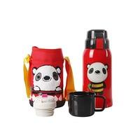 BEDDYBEAR 杯具熊 复古儿童保温杯 600ml 熊猫图案