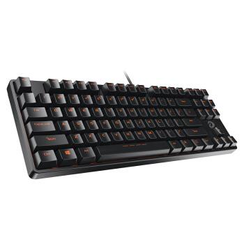 Dareu 达尔优 DK100 87键 有线机械键盘 黑色 国产茶轴 无光