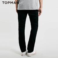 TOPMAN 黑色宽松版男士牛仔裤|69E07MBLK
