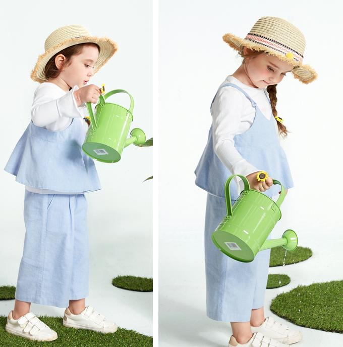 Mini Balabala 迷你巴拉巴拉 女童长袖套装3件套 (吊带背心+长袖T恤+阔腿裤)