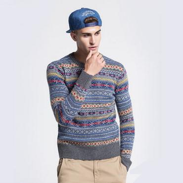 WHO.A.U WHKA54908D 男士羊毛混纺针织衫