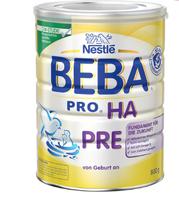 Nestlé BEBA 贝巴 婴儿免敏奶粉 pre段 800g